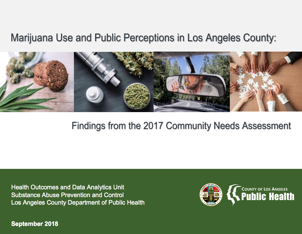Marijuana Use and Public Perceptions in Los Angeles County