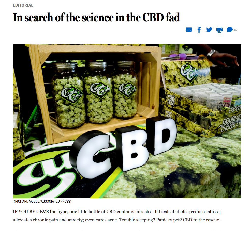 In search of the science in the CBD fad